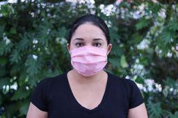 Máscara TNT Com Elástico Rosa Salmão