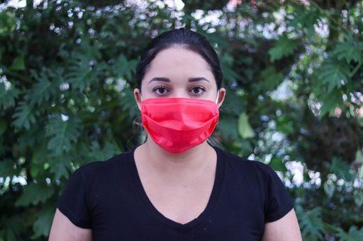 Máscara TNT Com Elástico Vermlha