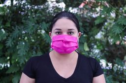 Máscara TNT Com Elástico Rosa Pink