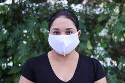 Máscara Tecido Sem Elástico Branca