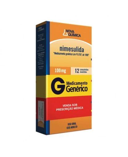 Nimesulida 100mg Nova Química 12 Comprimidos