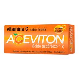 Cimed Aceviton 1G Sabor Laranja 10 Comprimidos Efervescentes