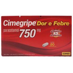 Cimegripe 750mg 20 Comprimidos