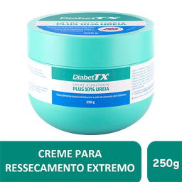 Creme Hidratante Plus 10% Uréia DiabetTX, 250g