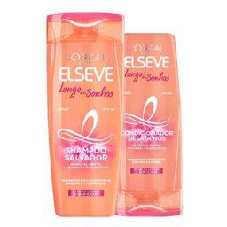 Kit Elséve Liso Dos Sonhosâ Shampoo 375 mL + Condicionado 170 mL