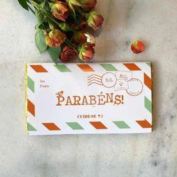 Barra de Chocolate Parabéns - 100g