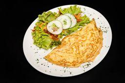 Omelete de Peito de Peru com Queijo Prato