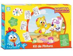 Kit De Pintura Galinha Pintadinha Madeira
