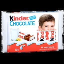 Chocolate Kinder Barras 50 g Com 4 Und