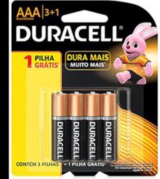 Pilha Duracell Aaa 3+1 Pague 3 Leve 4 Und