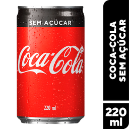 Refrigerante Zero Coca Cola Lata Sleek 220 mL