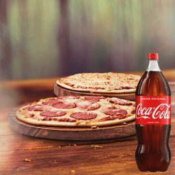Pizza 2 Sabores + Refrigerante 1,5L