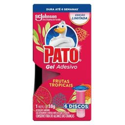 Desodorizador Sanit Pato Gel Adesivo Refil Frutas Tropi 6 Discos