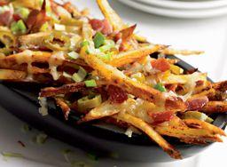 Batata Skinny com Bacon e Cheddar