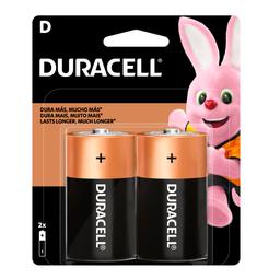 Pilha Alcalina D 1.5V Duracell 2 Und