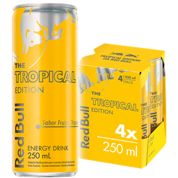 Enérgetico Red Bull Tropical 250 mL 4 Und