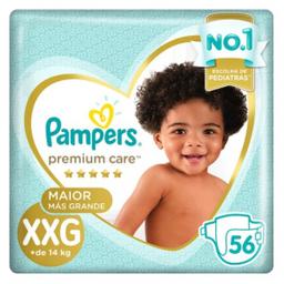 Fralda Pampers Premium Care Tamanho Xxg 56 Und