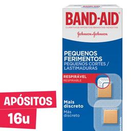 Band Aid Band-Aid Curativos Pequenos Ferimentos 16 Unidades