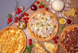Pizza Meio a Meio Salgada - 12 Fatias