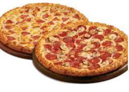 Duas pizza família + 2 bordas + refrigerante