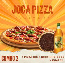 Combo 2 - pizza big + broto doce + Kuat
