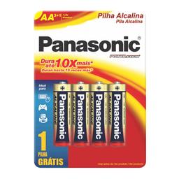 Pilha Panasonic Alcalina Pequena Aa Leve Pague 3 4 Und