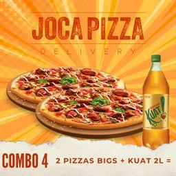 Combo 4 - 2 pizzas big + Kuat