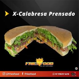X Calabresa + Refri 200ml + Fritas