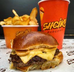 Combo -  Burger Simples com  Batata e  Bebida