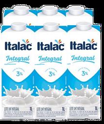 6 Und. Leite Integral UHT Italac 1 L