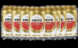 8 Und. Cerveja Amstel Pilsen Lager 350 mL