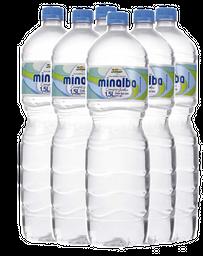 6 Und. Água Mineral Sem Gás Minalba 1,5 L