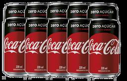 10 Und. Refrigerante Coca Cola Sem Açúcar 220 mL