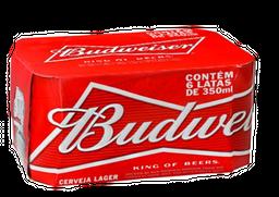 6 Und. Cerveja Budweiser Lata 350 ml