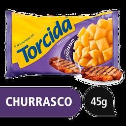 8% em 5 Unid Torcida Salgadinho Churrasco