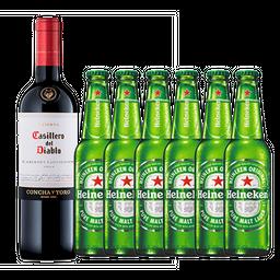 Vinho Casillero del Diablo & Cerveja Heineken Long Neck