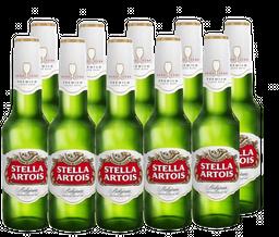 10 Und. Cerveja Stella Artois Long Neck 275 mL