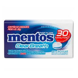 Mentos Pastilha Clear Breath Peppermint