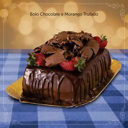 Bolo de Chocolate e Morango Trufado - 1Kg