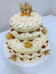 Bolo Naked Cake Frutas Amarelas - 1kg