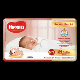 Huggies Fralda Supreme Care Rn 34 Fraldas