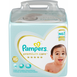 Pampers Fralda Premium Care Tam Xg Pacote Hiper 60 Descartáveis