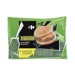 Sanduíche Hambúrguer Carrefour Carne Com Queijo 150 g