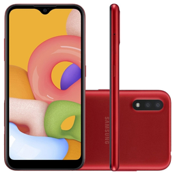 Smartphone Samsung A015 Galaxy A01 32Gb Vermelho