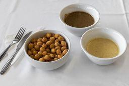 Nhoque Frito com Molho 4 Funghi
