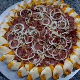 Pizza de Calabresa Borda Cheddar - Grande