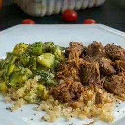 Carne Magra Cozida com Abobrinha 300g