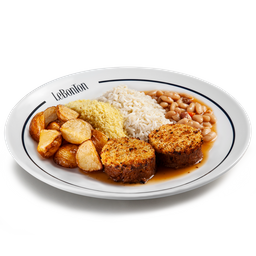 Le Bife, arroz, batata, farofa e cassoulet p/2 pessoas