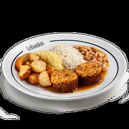 Le Bife, arroz, batata, farofa e cassoulet p/4 pessoas