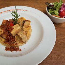 Talharim de Pistache com Tofu